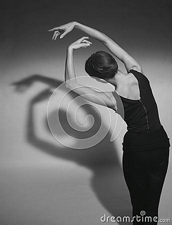 Dansskuggor Redaktionell Arkivfoto