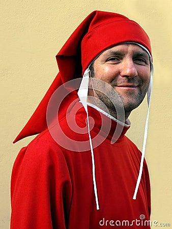 Dante Alighieri impersonator, Florence, Italy Editorial Image