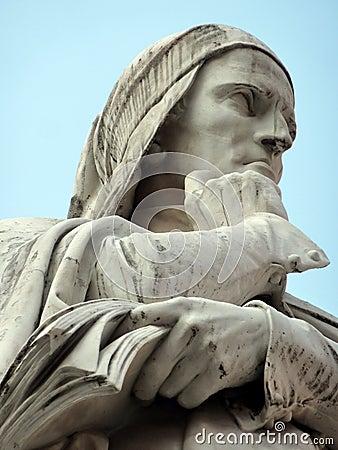 Free Dante Alighieri Statue Royalty Free Stock Photo - 14125675