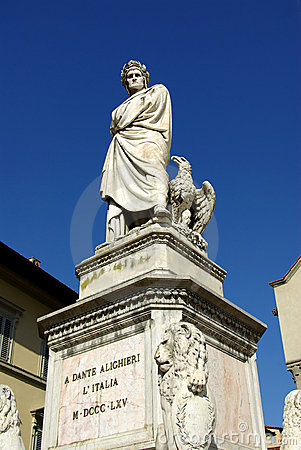 Dante s statue in Florence