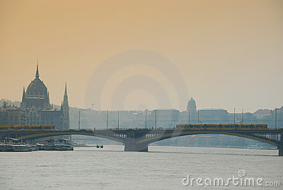 Danube river by Budapest