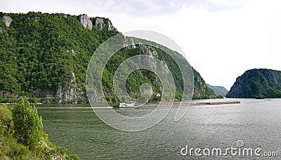 Danube river gorge