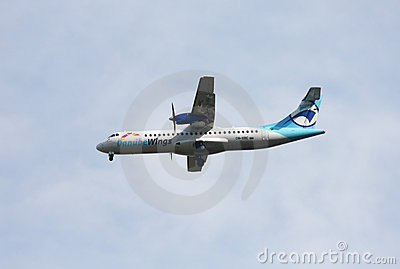 Danube Wings ATR-72 Editorial Stock Photo