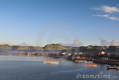 Dapa Siargao town daybreak Editorial Stock Photo
