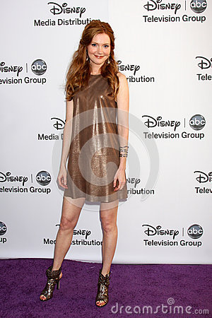 Darby Stanchfield arrives at the ABC / Disney International Upfronts Editorial Stock Photo