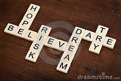 Dare to try - motivational crossword