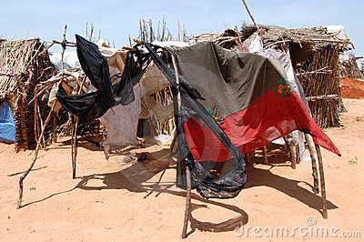 Darfur Shelters Editorial Stock Photo