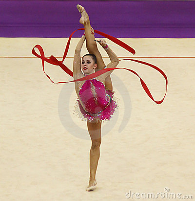 Daria Dmitrieva (Russia) at Deriugina Cup Editorial Image