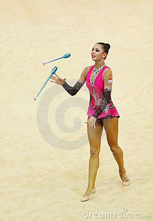 Daria Dmitrieva (Russia) at Deriugina Cup Editorial Image