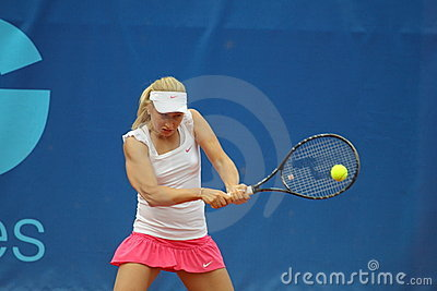 Daria Gavrilova - Prague open 2011 Editorial Stock Photo