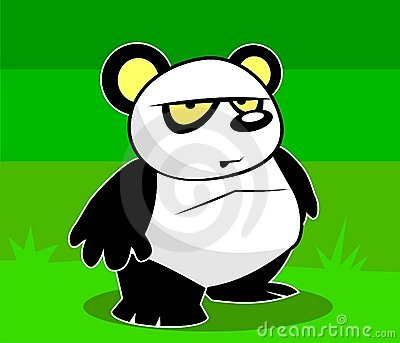 Daring Panda with an attitude