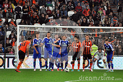 Dario Srha makes free kick Editorial Stock Image