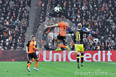Dario Srna jumped for the ball Editorial Stock Photo