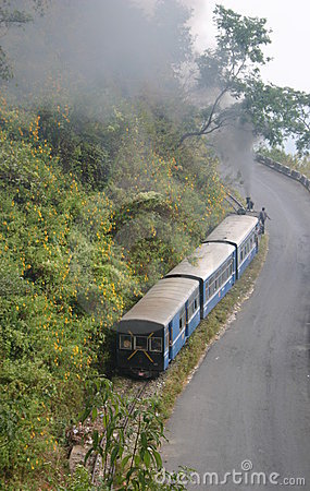Darjeeling Himalayan Railway train Editorial Photo