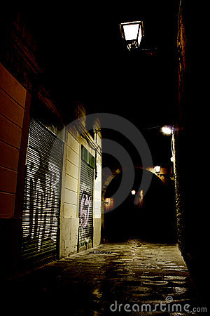 Dark alley in the city