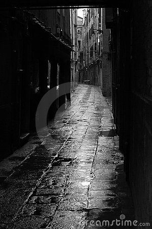 Dark alley in Venice