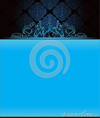 Dark background with blue