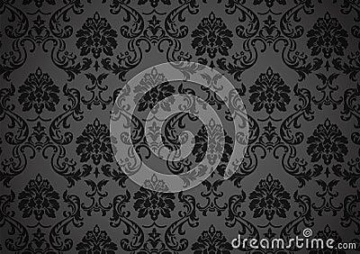 Dark baroque wallpaper