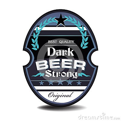 Dark beer label