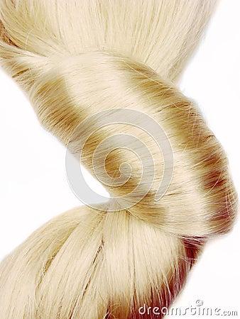 Dark blond hair coiffure
