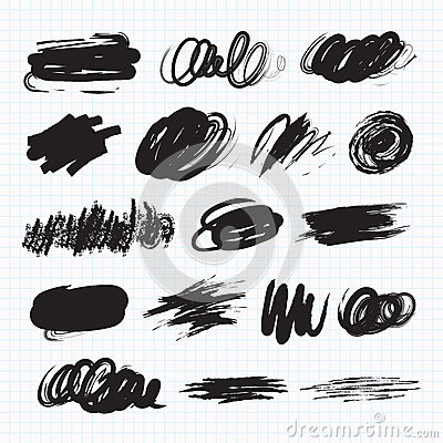 Free Dark Blots. Scribble Stains Royalty Free Stock Image - 83381206