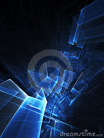 Dark blue abstract background composition