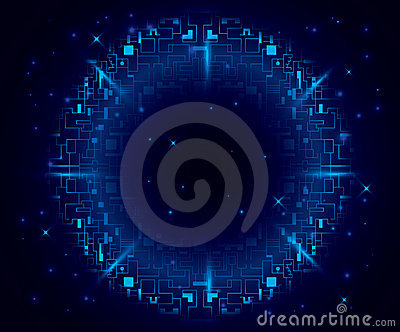 Dark blue background with round element - eps 10