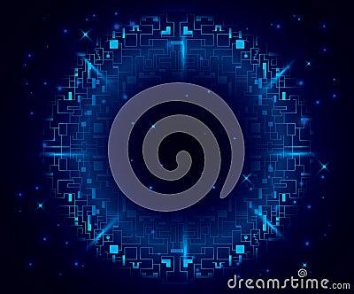 Dark blue background with round element - eps 10