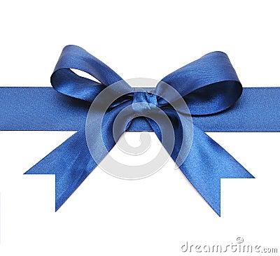 Free Dark Blue Bow Stock Photo - 16989280
