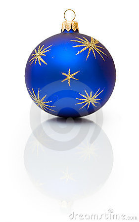 Dark-blue Christmas ball