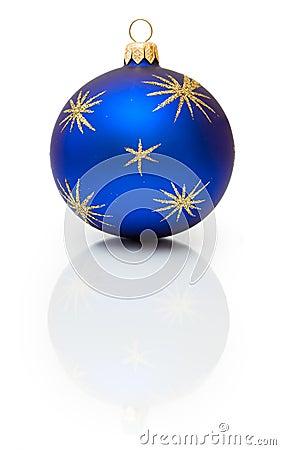 Dark-blue Christmas ball