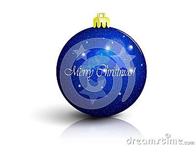 Dark blue Christmas ball