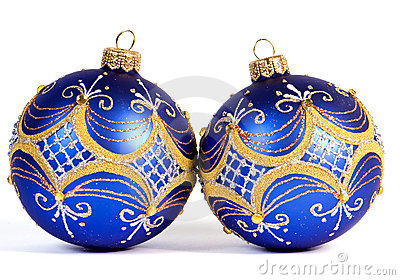 Dark blue christmas balls