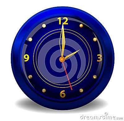 Dark blue clock
