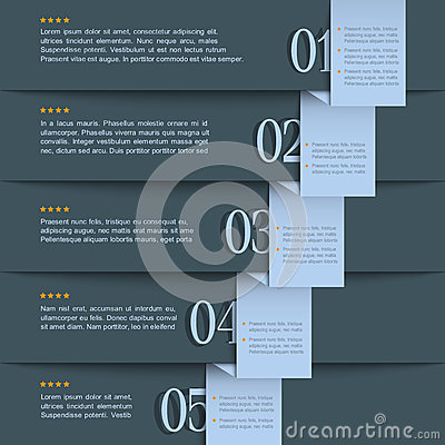 Dark blue design template