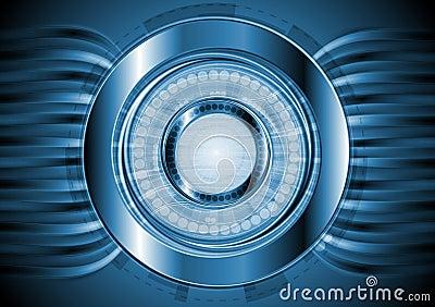 Dark blue hi-tech background. Vector design