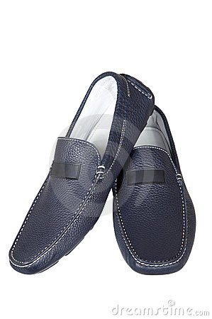 Free Dark Blue Low Shoes Royalty Free Stock Photo - 2473425