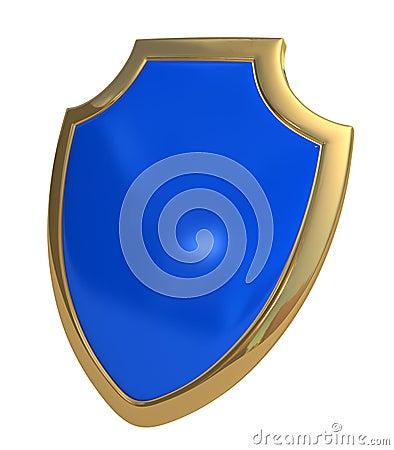 Dark blue shield