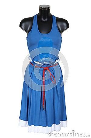 Dark blue skirt and vest