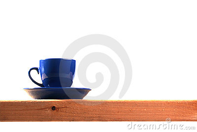 Dark blue tea cup