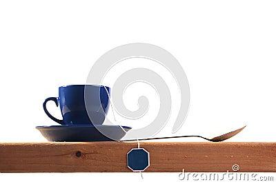 Dark blue tea cup