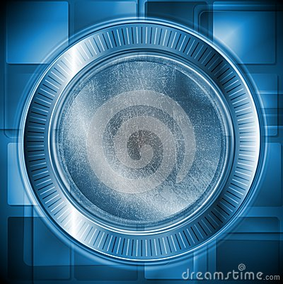 Dark blue technology design. Grunge style. Vector