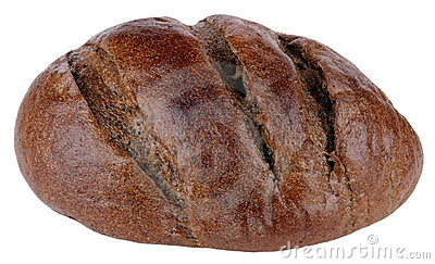 Dark bread on isolated