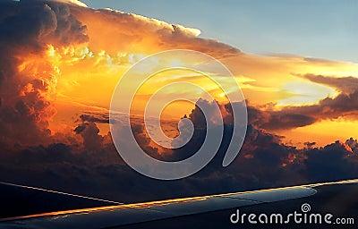 Dark Brewing Thunderstorm Cloud At Dusk