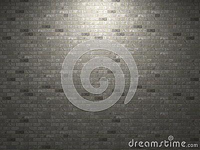Dark brick wall.