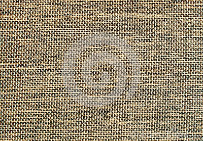 Dark brown burlap surface detail
