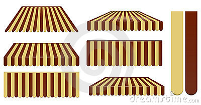 Dark brown and soft brown awnings