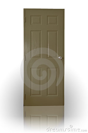 Dark brown wood door