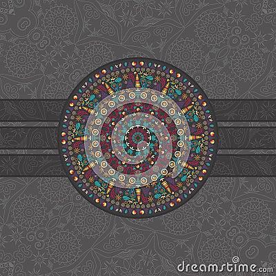 Dark Card with Round Symmetry Element