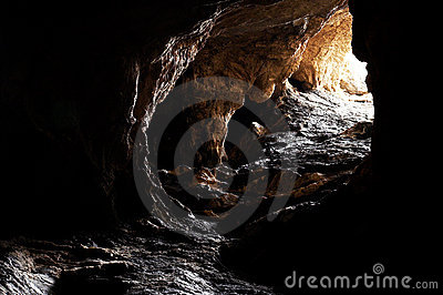 The dark cave